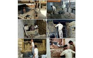 همت بلند جهادگران فنی و حرفه ای استان در ساخت منزل مسکونی خانواده کم برخوردار