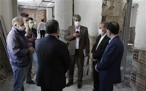 بازدید مدیر کل آموزش و پرورش اردبیل از پروژه های نیمه تمام ناحیه یک