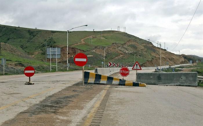 عملیات کارگاه جاده ای نیز در محور هراز