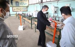 طراحی و تولید دستگاه ضدعفونی کننده در هنرستان شهید غفور رئیسی میانه