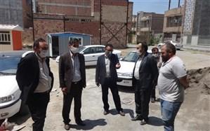 بازدید مدیرکل نوسازی، توسعه و تجهیز مدارس اردبیل از مدرسه خیری 6کلاسه در حال احداث شهدای فرهنگی شهرک زیتون پارس آباد