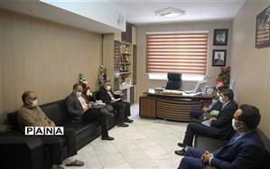 دیدار دبیر شورای هماهنگی مبارزه با مواد مخدر استان با مدیرکل آموزش و پرورش خراسان شمالی
