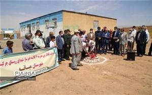 مراسم کلنگ زنی مدرسه خیرساز شهدای روستای چرکینلوی برگزار شد