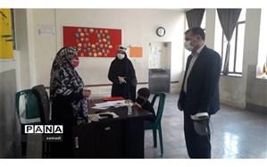 بازدید از پایگاه  های سنجش دانش آموزان بدو ورود به دبستان منطقه ۱۳