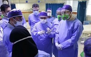 حضور معاون وزیر بهداشت در بیمارستان 22 بهمن نیشابور