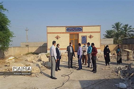 بازدید فرماندار دشتستان و مدیرکل نوسازی مدارس استان از پروژه های عمرانی آموزش و پرورش دشتستان