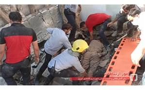 ریزش ساختمان در تهران؛ چند تن مدفون شدند