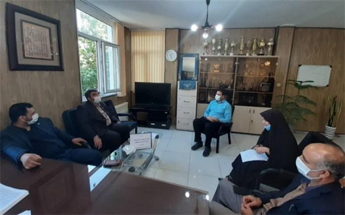 برگزاری جلسه معاونت پرورشی و فرهنگی با رئیس اداره آموزش و پرورش استثنایی