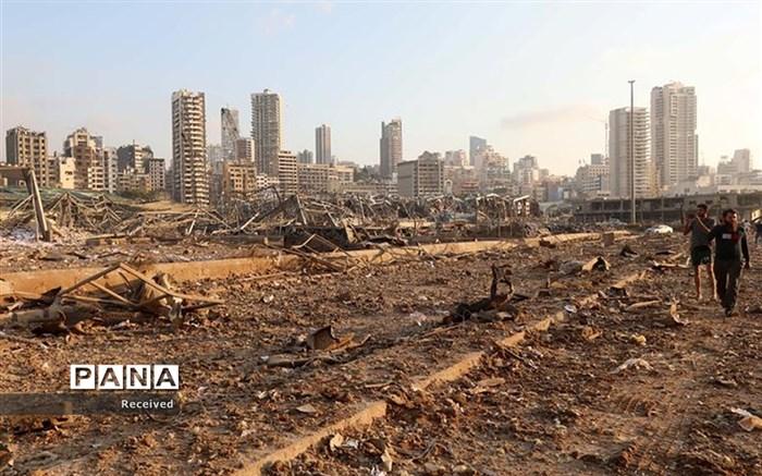 تصویری وحشتناک از موج انفجار حادثه بیروت!