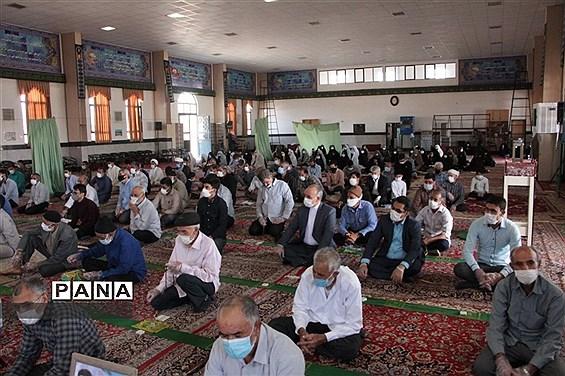 ششمین نماز جمعه شهرستان خوسف با رعایت پروتکلهای بهداشتی