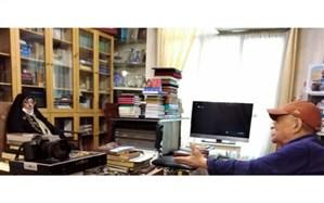 رییس سازمان اسناد و کتابخانه ملی ایران به دیدار سید عبدالله انوار رفت