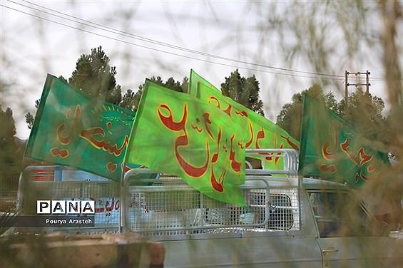 آماده سازی خودرو ها برای کاروان شادی خودرویی و موتوری خانوادگی درشهرستان خوسف
