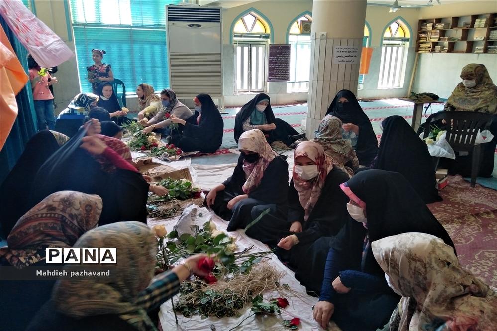 اهدای 1000 شاخه گل رزبه شهروندان شیرازی  به مناسبت عید غدیر