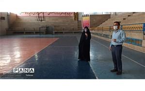 بازدید پورمحمود از اماکن ورزشی منطقه17