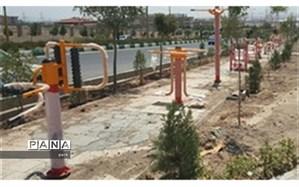 نصب سِتهای ورزشی و وسایل بازی کودکان در بوستان دانش شهر پرند