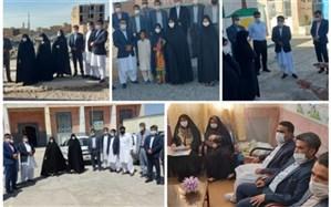 بازدید «زهرا مظفر» از 8 مدرسه محروم روستایی منطقه نصرت آباد زاهدان