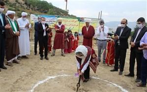 کلنگ زنی و احداث دبستان 4 کلاسه خیرساز مشارکتی روستای قوشه سو در مراوه تپه