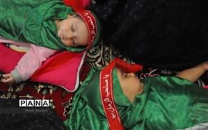 پوشش مراسم شیرخوارگان حسینی بدون حضور مادران و نوزادان از مشهد و تهران