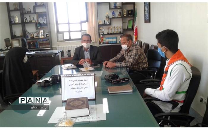 جلسه خبرنگاران پانا با رییس سازمان دانش آموزی استان