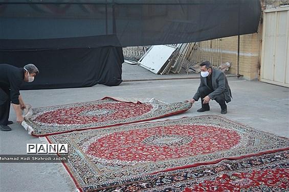 آماده سازی و اقامه سوگواری دهه اول محرم به میزبانی هیات فرهنگیان ناحیه یک  خراسان رضوی