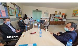 بازدید  رییس و معاونت آموزش متوسطه اداره آموزش و پرورش ناحیه یک بهارستان از حوزه های برگزاری کنکور