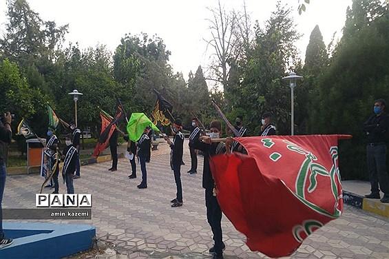 برگزاری هشتمین سوگواره احلی من العسل (کاروان ره پویان قاسم بن الحسن (ع) ) در شهرستان داراب