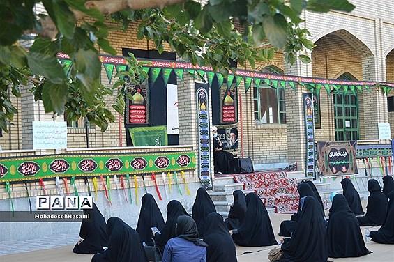 عزاداری حسینی در حوزه علمیه نرجس(س) شهرستان بیرجند