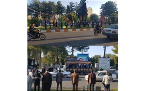 اجرای مراسم عزاداری توسط کاروان ره پویان حضرت قاسم(ع) در میادین شهرستان بیرجند