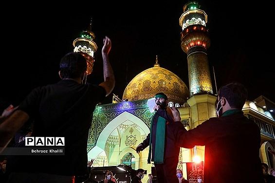 مراسم عزاداری شب تاسوعای حسینی (ع) در میدان فلسطین
