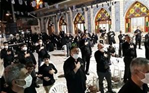 عزاداری عاشقان اباعبدالله الحسین علیه السلام  روز تاسوعا با رعایت پروتکل های بهداشتی در گیلان