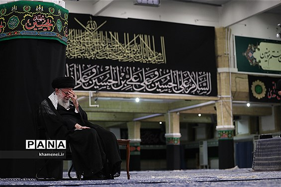 برگزاری مراسم آخرین شب عزاداری حسینی با حضور رهبر انقلاب