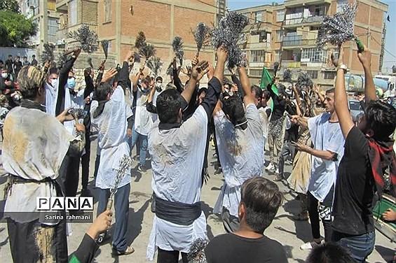 مراسم عزاداری مردم کرمانشاه در عاشورای حسینی