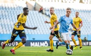 لیگ برتر سوئد؛ مالمو بدون مدافع ایرانی صدرنشین ماند