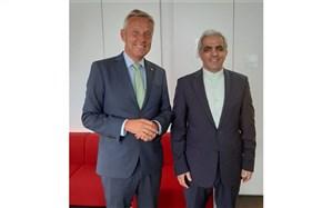 توییت سفیر ایران در وین درباره دیدارش با نائب رئیس کمیسیون سیاست خارجی اتریش