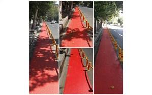 احداث اولین مسیر ویژه تردد دوچرخه در منطقه ۱۲