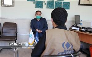 توزیع مواد ضد عفونی کننده بین مدارس خراسان جنوبی