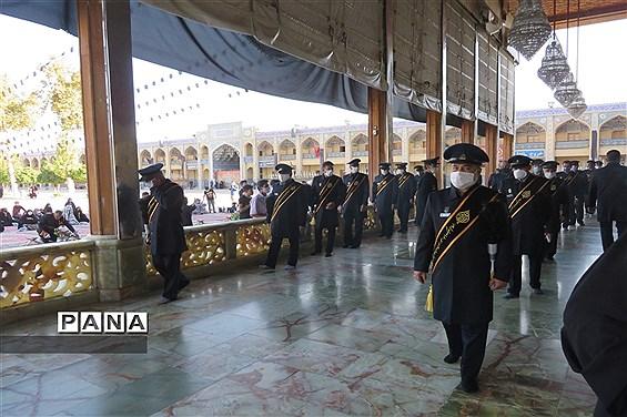 آیین سفره صلوات  و روضه خوانی در حرم مطهر احمد بن موسی (ع)شاهچراغ شیراز در ایام محرم
