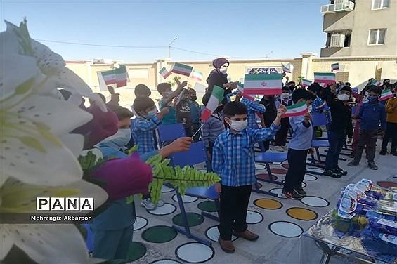 برگزاری جشن شکوفه های کلاس اولی ها در شهرستان نی ریز