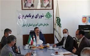 برگزاری جلسه شورای برنامه ریزی سازمان دانش آموزی اردبیل با حضور قائم مقام معاون وزیر