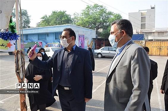 آیین بازگشایی مدارس در  ناحیه ۳ اهواز