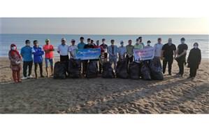 ساحل خزر در  بندرکیاشهر پاکسازی شد