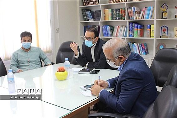 نشست هماهنگی بیست و یکمین پرسش مهر ریاست جمهورآموزش و پرورش استان بوشهر