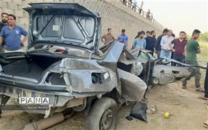 سقوط مرگبار یک خودرو از پل شیبان شهرستان باوی