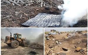 جمعآوری 200 دهنه تولید زغال غیر مجاز در غرب استان تهران