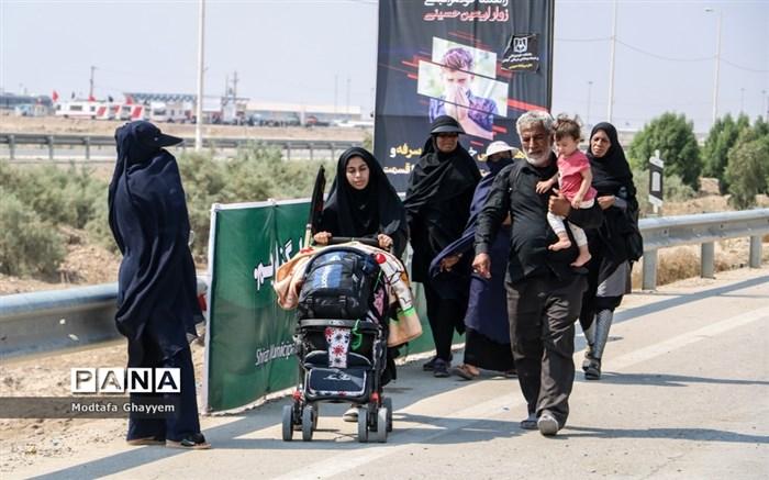 عبور زائران اربعین حسینی از مرز بین المللی شلمچه
