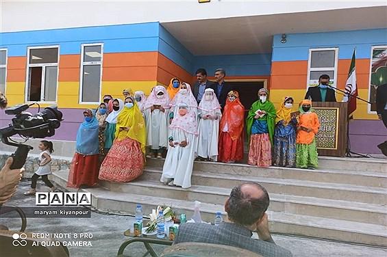 آیین افتتاح دبستان دخترانه مهر عظام در مسجدسلیمان