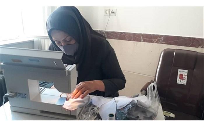 مدارس استثنایی کردستان به عرصه تولید ماسک وارد شدند