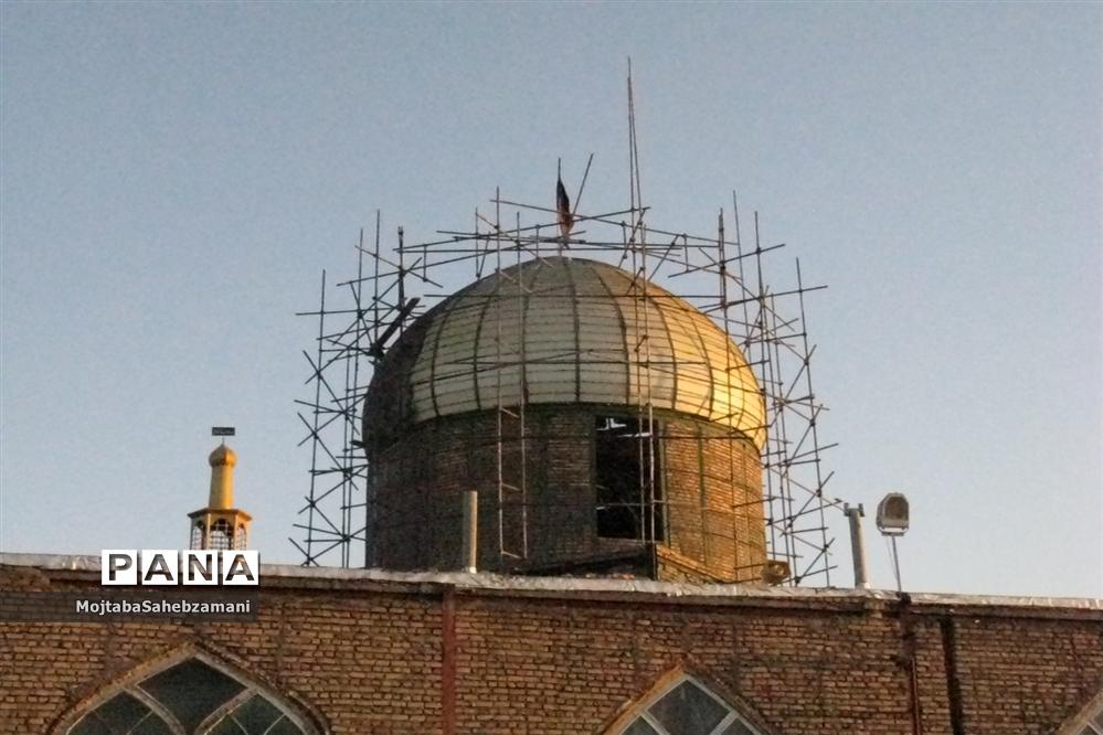 بازسازی گنبد امامزاده سید محمد (ع) کاشمر