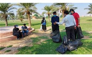 پاکسازی ساحل کارون در منطقه کوت عبدالله اهواز