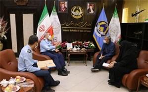 دیدار فرمانده نیروی هوایی ارتش با خانواده شهید رحمانی